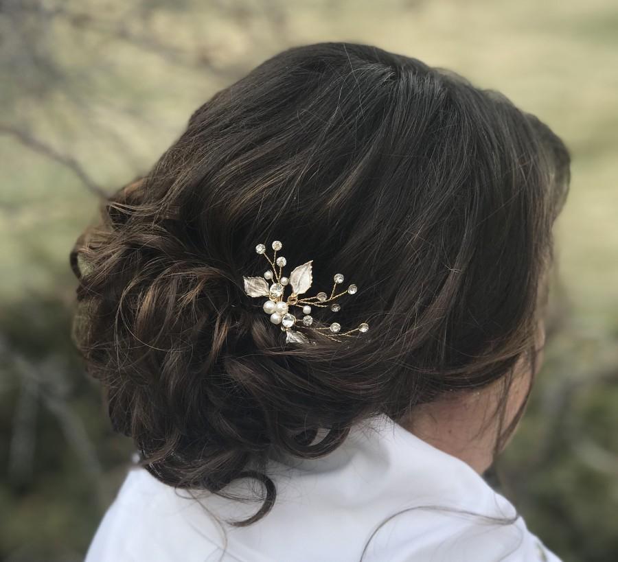 Wedding - Bridesmaid Hair Pins, Bridesmaid Hair Accessory, Bridal Party Gift, Gift Idea, Wedding Favors, Bridal Gift,