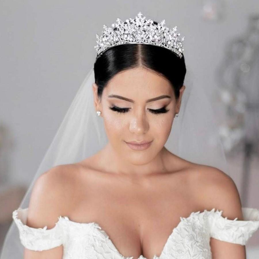 Wedding - RENEE Swarovski Bridal Tiara, Wedding Crown, Bridal Tiara, Swarovski Crystals Tiara, Wedding Headpiece, Gorgeous Wedding Crown
