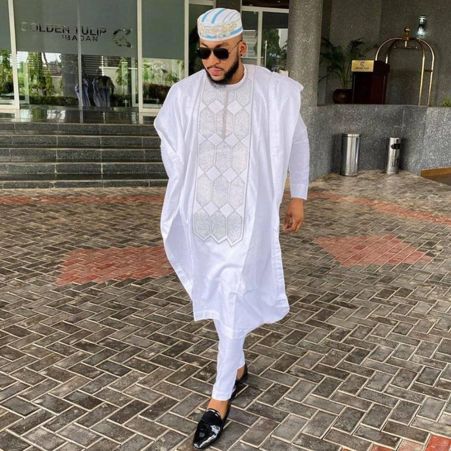 Mariage - AGBADA, African AGBADA, AGBADA for men, traditional wedding suit, men's wedding suit, Groomsmen suit, Groom's suit, men's traditional wear
