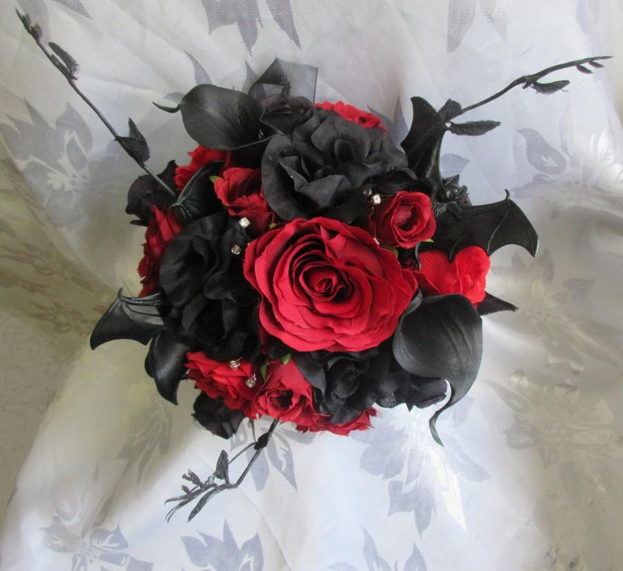 Wedding - Gothic Bride/ Bridesmaid /wedding flowers CUSTOM MADE to your designs Photos are examples!  Message me to discuss your ideas