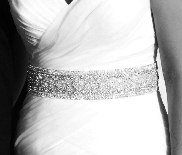 Свадьба - Evelyn Wedding Jeweled Crystal Beaded Embellished Belt Sash