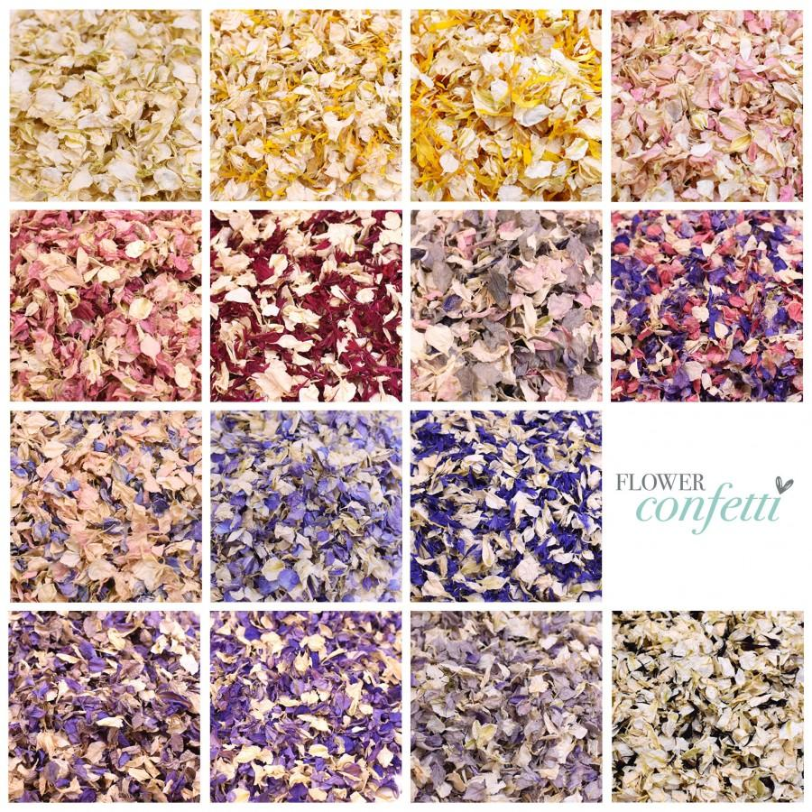 Wedding - 1 Litre (8-10 handfuls) Biodegradable Flower Confetti