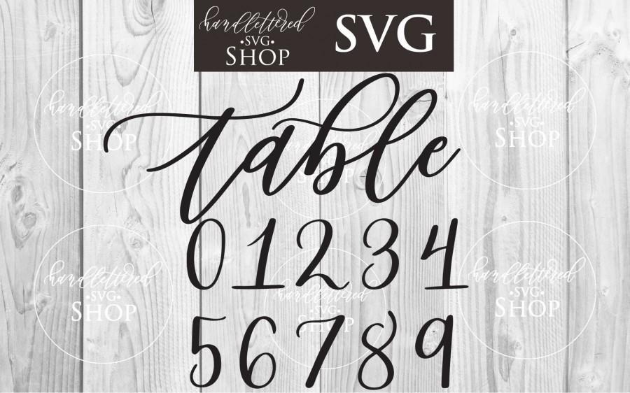 Wedding - BEST SELLER Diy Wedding Table Numbers Svg Bundle