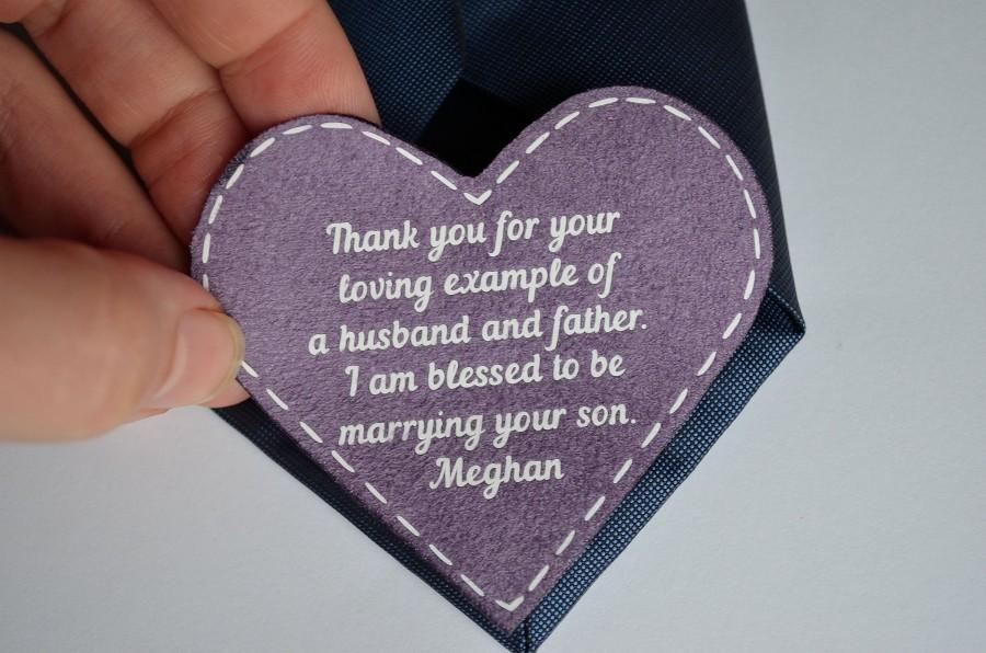 Wedding - father of the groom gift from bride father in law tie patch father in law wedding gift from bride