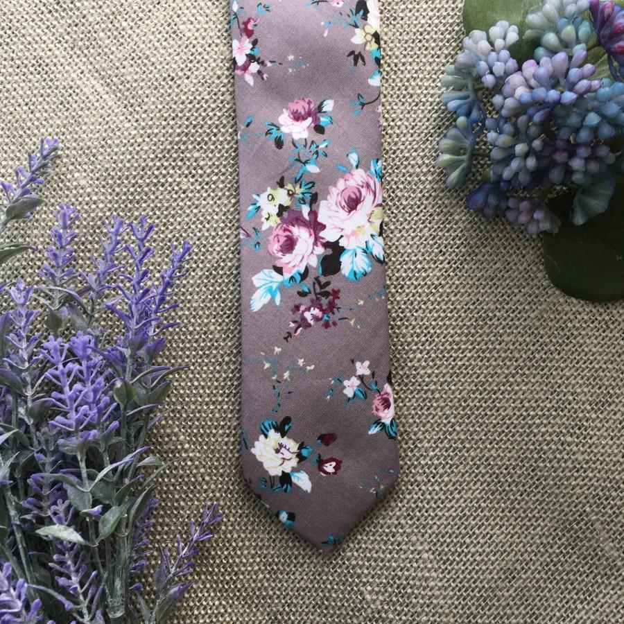 Wedding - Skinny Floral Tie