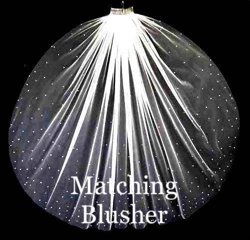Свадьба - matching blusher to veil, scattered crystal blusher, crystal wedding veil, crystal blusher, scattered crystal veil, crystal veil