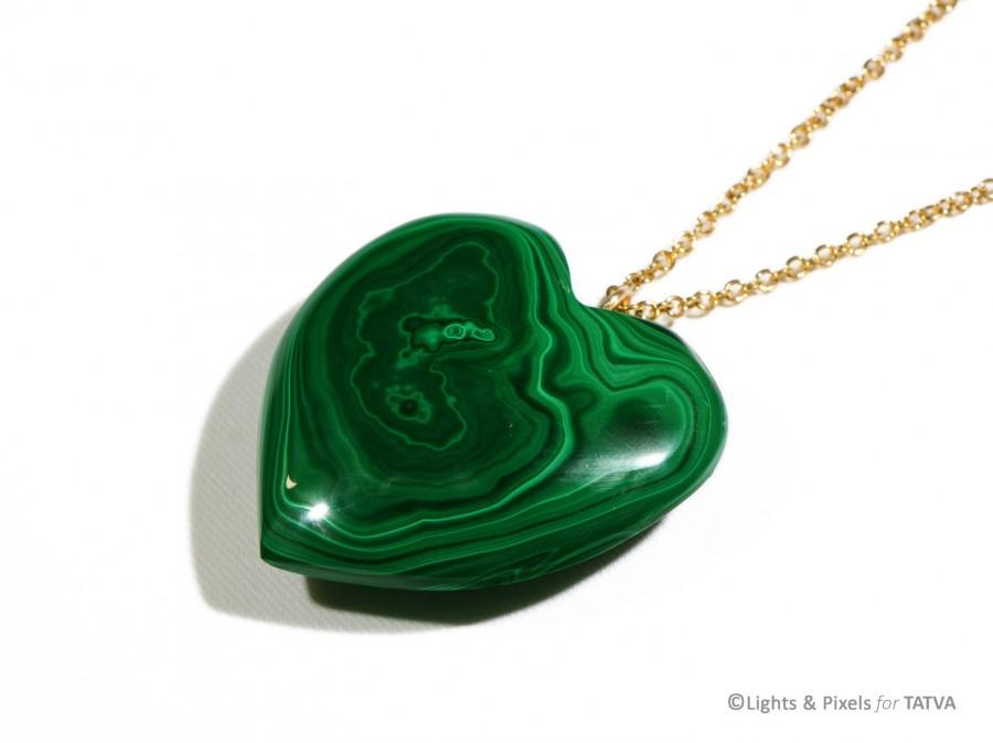 Hochzeit - Heart Pendants real malachite - Gift for women - Christmas gifts - ornaments