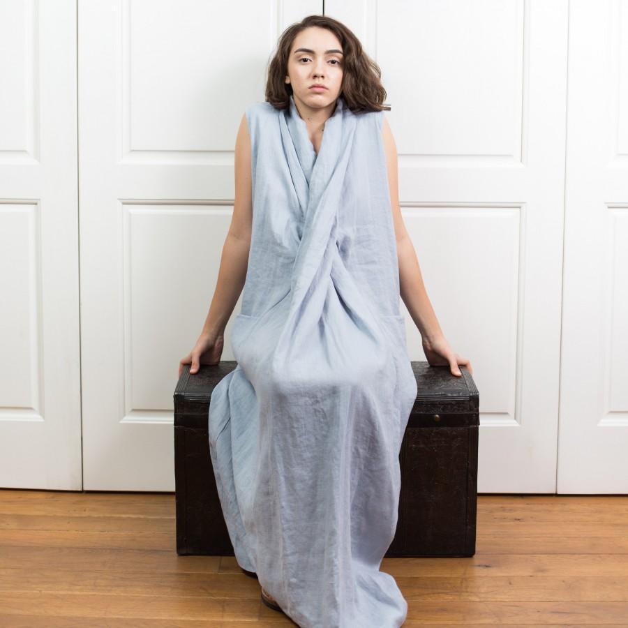 Wedding - Linen Womens Clothing BELLE / Beach Linen Dress / Asymmetrical Linen Dress / Linen Maxi Dress