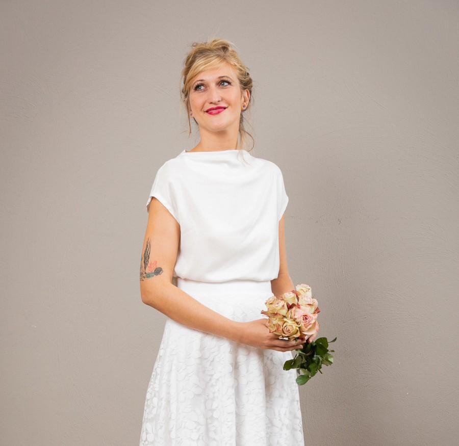 Wedding - Wedding top Aennie in off-white