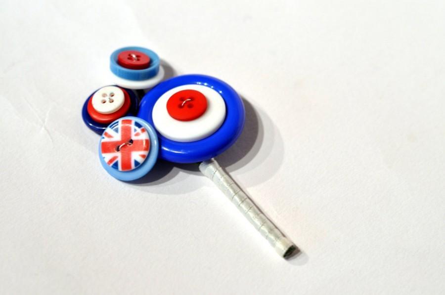 Wedding - Mod Buttonhole / mod corsage / button buttonhole / alternative wedding flowers / everlasting buttonhole