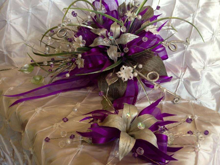 Mariage - Purple wedding bouquet / Ramo de quince./