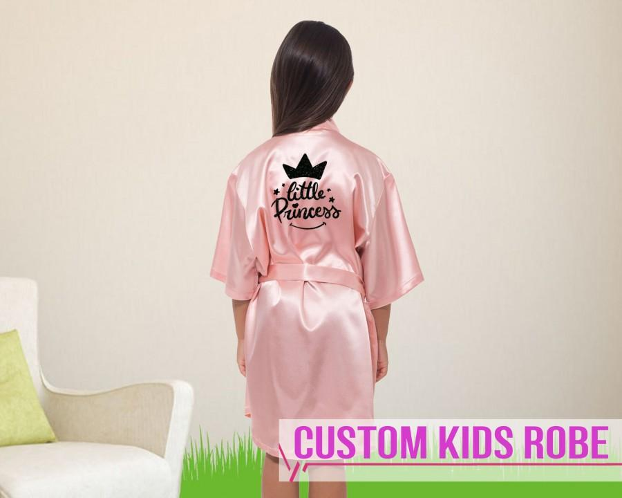 Wedding - Birthday Robes for Kids Bridesmaid Robes Your Name Robes Flower Girl Robes Custom Robes for Girls Robes Bridal Robes Custom Bridesmaid Robes