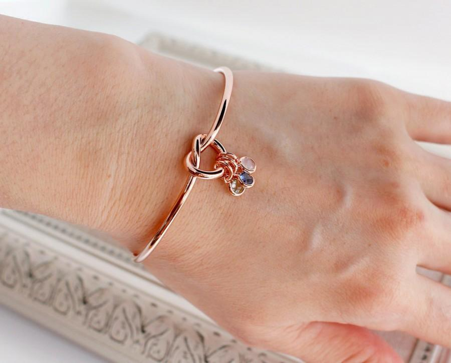 Свадьба - Family Bracelet • Mothers Bracelet • Mother's Day Gift • Birthstone Bracelet • Tie the Knot Bracelet • Bridesmaid Gift