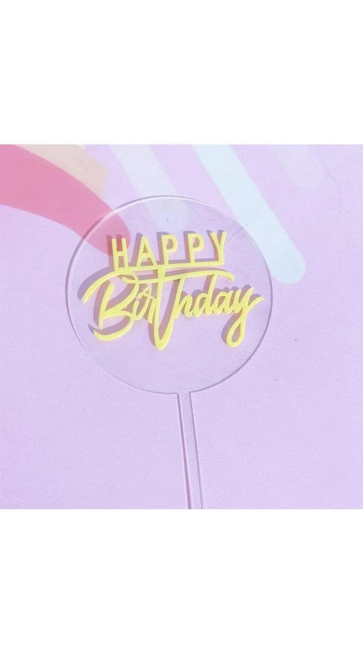 Hochzeit - Acrylic Cake topper birthday party decoration