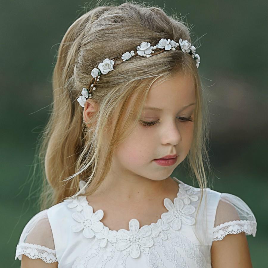 Hochzeit - Blush Pink Flower Crown, Flower Tiara, Floral crown, Flower Halo, Bohemian flower crown, Bridal Crown, Flower girl Crown, Floral Hair Wreath