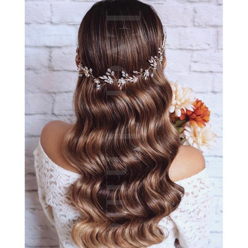 زفاف - FREE SHIPPING -  Orla Floral Bridal Hair Vine - Crystal and Pearl Wedding Hair Adornment, Wedding Flowers, Bridal Hair Accessories