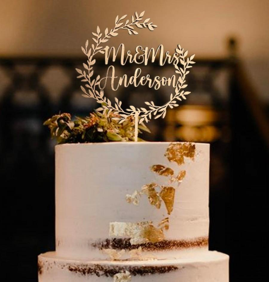 Свадьба - Rustic Mr and Mrs Wedding Cake Toppe -  Topper Cake Wedding  -  Custom Cake Topper - Birthday Cake Topper
