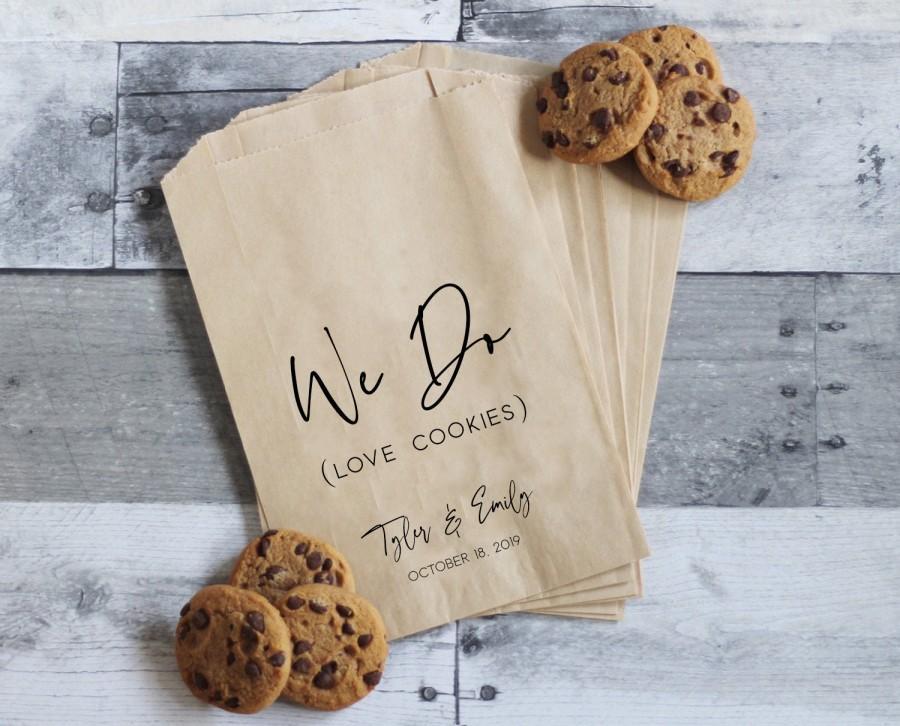 Mariage - Wedding Cookie Bags, Cookie Wedding Favors, Wedding Treat Table, Wedding Cookie Table, Wedding Treat Bags, Personalized Wedding Favors