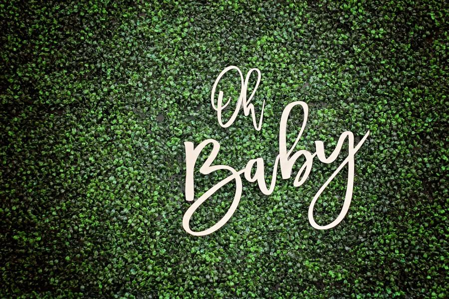 Hochzeit - Oh Baby Wood Sign, Oh Baby Shower Decoration, Baby Shower Backdrop, Gender Reveal Prop, Pregnancy Announcement, Baby Shower Decorations