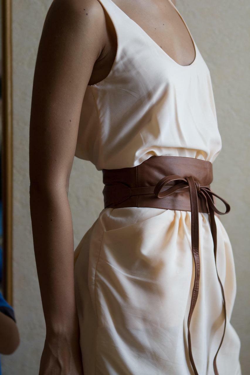 "زفاف - New VIKTOR SABO Exclusive Canadian Handmade Obi Kafeta Lambskin For Waistline Up To 36""/91.4 cm XL+"