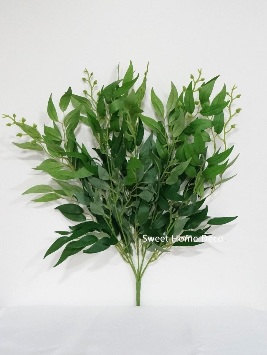Свадьба - JennysFlowerShop 20'' Silk Eucalyptus Leaves Bush, Fake Seeded Eucalyptus, Artificial Eucalyptus, Floral Design Leaves, Set of 2, Green