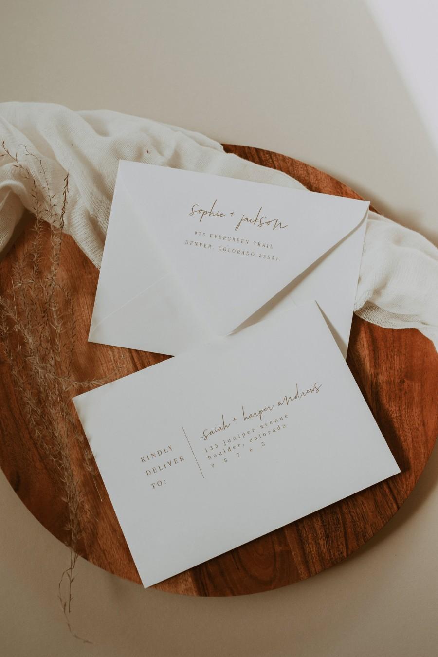 Mariage - Printable Envelope Address Template — Editable Wedding Envelope Template — Printable Envelope Template — Rust Wedding Envelopes