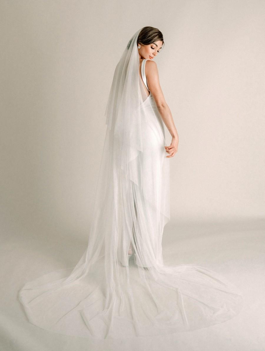 Mariage - Kelly Veil - Super Soft Tulle Veil, English Netting Drop Veil, English Tulle Veil, Cathedral Wedding Veil, Soft Bridal Veil, 3010