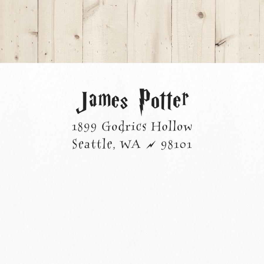زفاف - Wizard Address Stamp, Self Ink Address Stamp, Return Address Stamp, Personalized Stamp, Custom Stamp, Magic Stamp, Gift for Geeks
