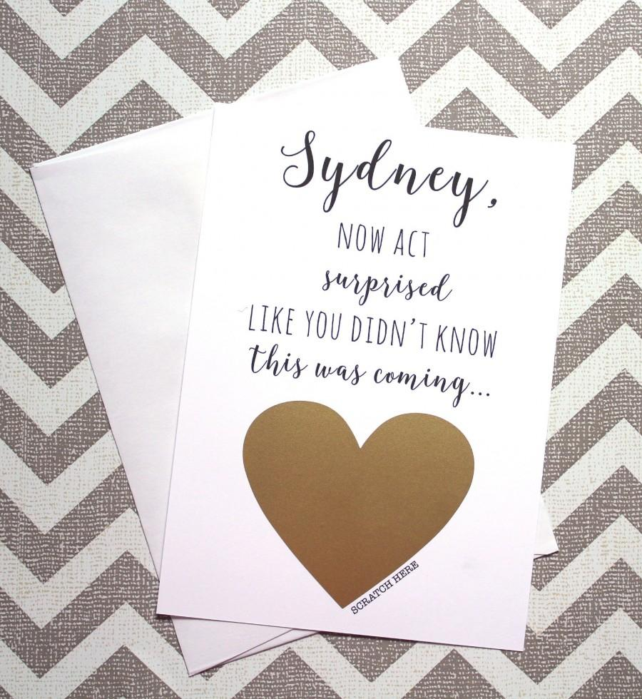 Mariage - Will You Be My Bridesmaid Card, Wedding Card, Bridesmaid Proposal