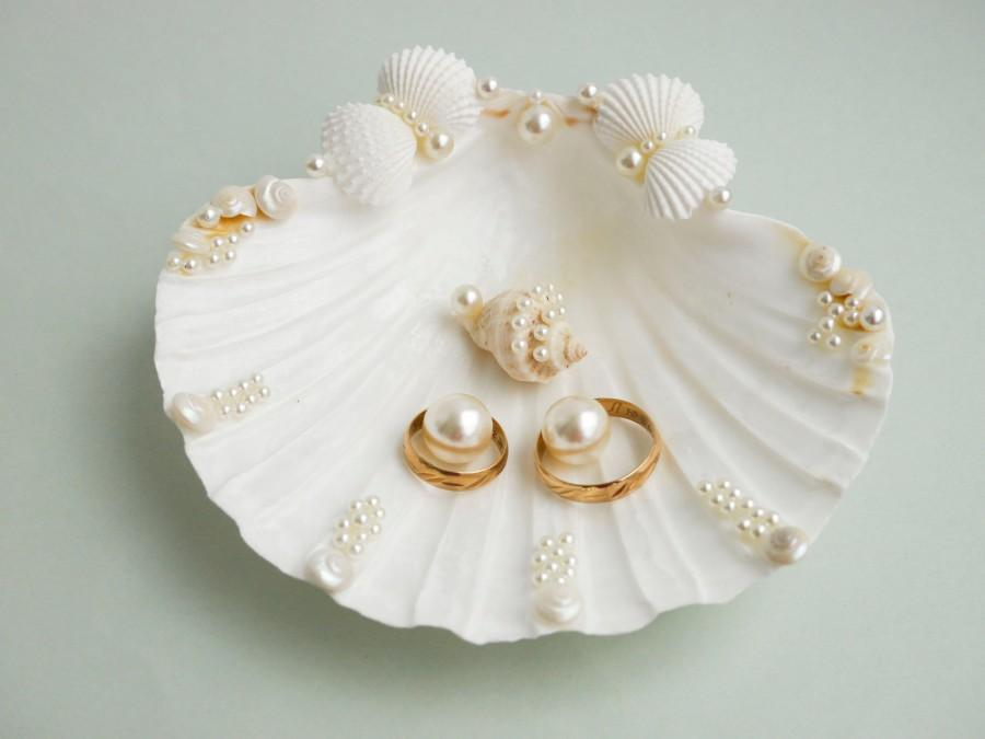 Mariage - Shell ring holder, Wedding Ring Holder, Seashell