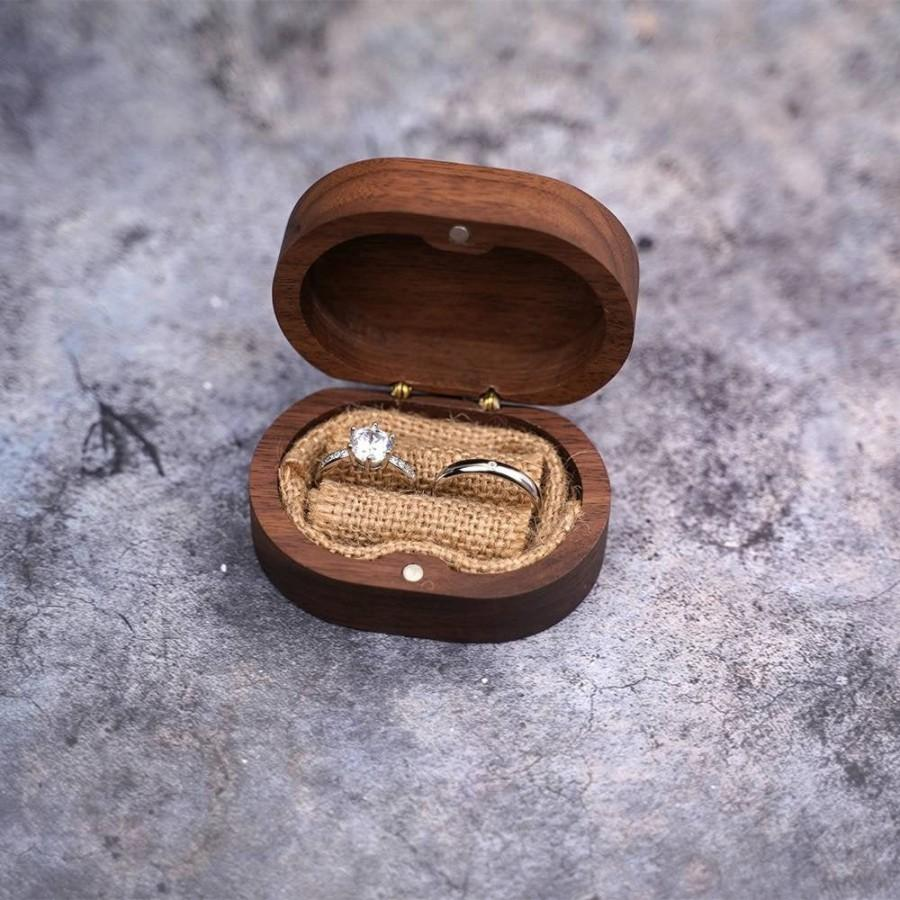 Wedding - Custom box for walnut wooden wedding ring, wedding box. ON ORDER