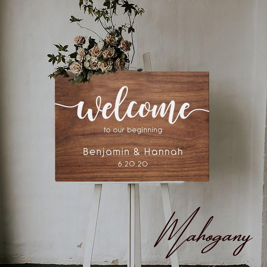 زفاف - Wedding Welcome Sign by Rawkrft - Rustic Wood Wedding Sign - Custom Wedding Sign - Bridal Shower Sign - UV Stained And Fade Resistant