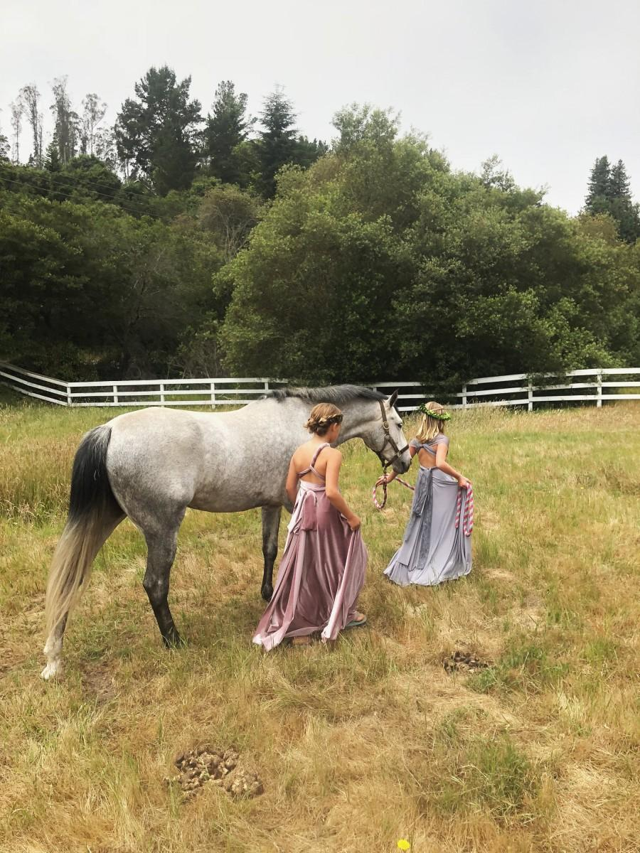 Wedding - Girl's Velvet Long Convertible Wrap Dress- Choose your Fabric Color- Bridesmaid-Party-Flower Girl