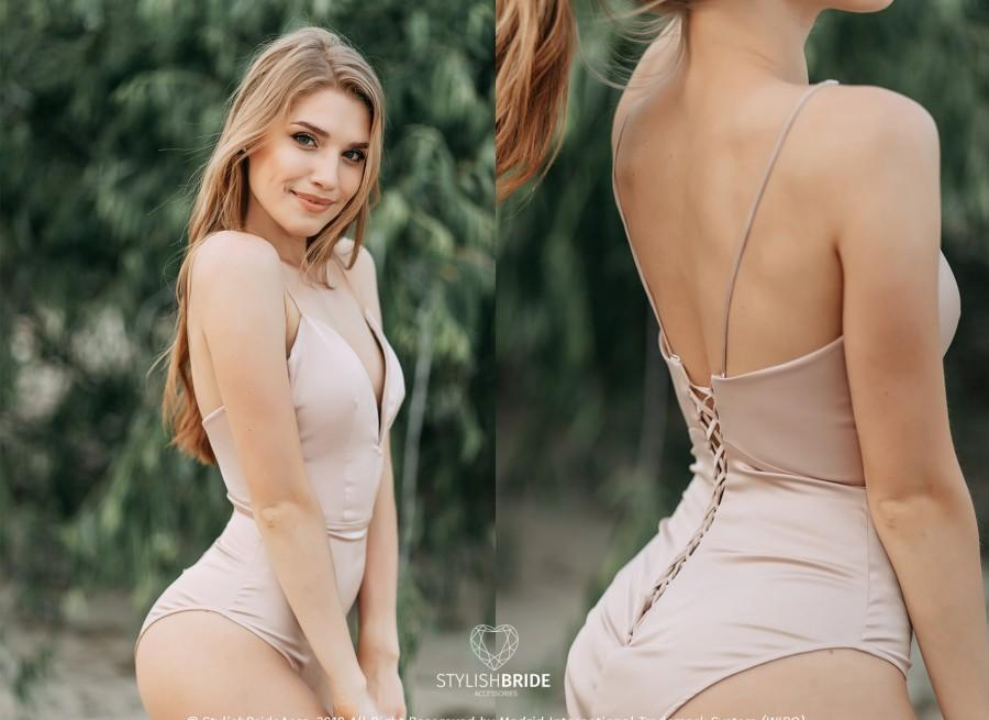 Hochzeit - Mermaid Silk Bodysuit, Silk Backless Bridal Bodysuit, Open Back Boho Bodysuit, New  Bridal by Stylishbrideaccs