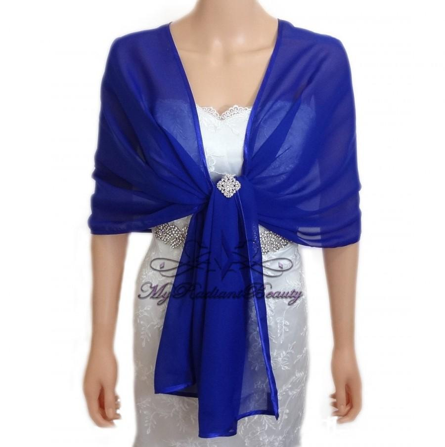 Свадьба - Bolero, Royal Blue Shrug, Chiffon Shawl, Bridal Silk Chiffon Evening Wrap, Shrug, Fur Wrap, Chiffon Scarf, Chiffon Wrap, CW108-R.BLUE
