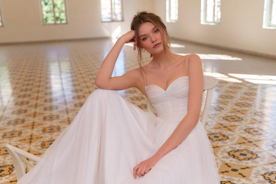 زفاف - Bohemian Wedding Dress, Tulle Wedding Dress, Wedding Gown, Unique Wedding Dress, Bridal Dress, Draped Wedding Dress, Long Bridal Dress