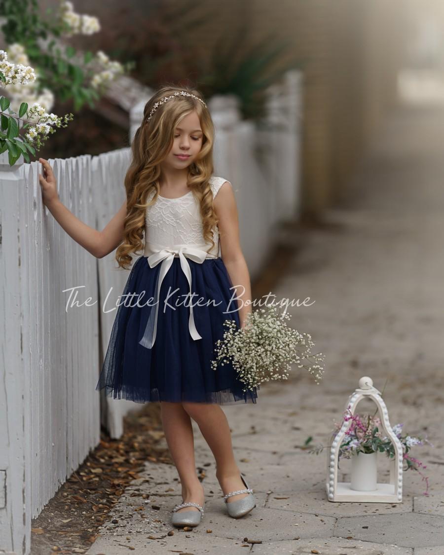 Hochzeit - tulle flower girl dress, rustic lace flower girl dresses, bohemian flower girl dresses, boho flower girl dress, ivory flower girl dress