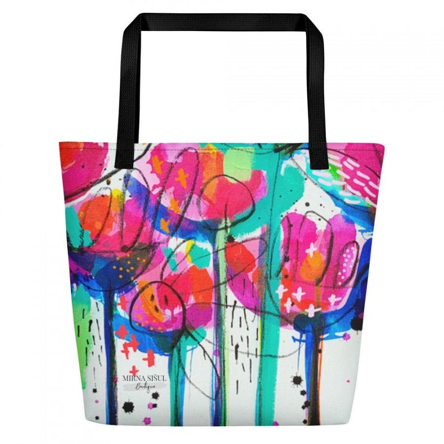 """Wedding - Bag """"Give the world a little bit of color"""" by Mirna Sišul, colorful, flowers, for unique women, ideal as a gift, free shipping"""