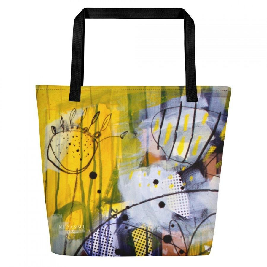 "Свадьба - Mirna Sišul colorful bag, ""I like my YELLOW MEADOW"", piece of art, made in EU, ideal as a gift, for unique woman, free shipping"