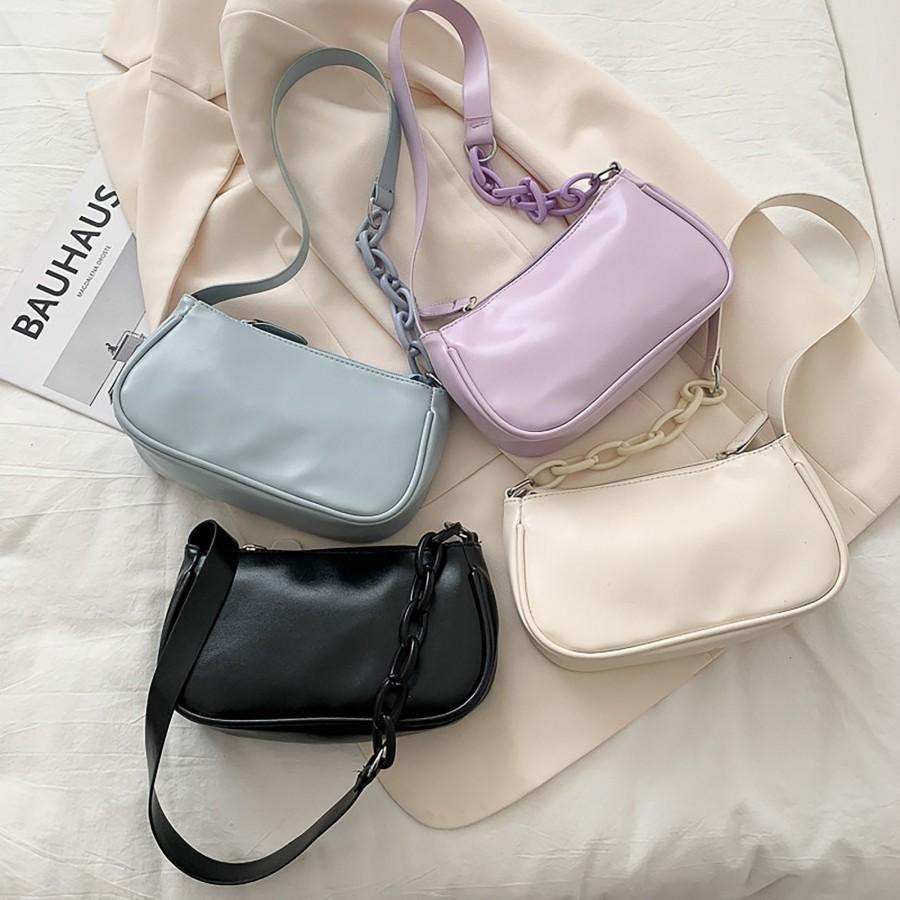 Свадьба - 90s Retro Minimal Bag, Simple Baguette Handbags, Vintage Baguette Bag, Small Bag, Shopping Bags, Underarm Bag, E-Girl Y2K Handbag, Y2K Bag