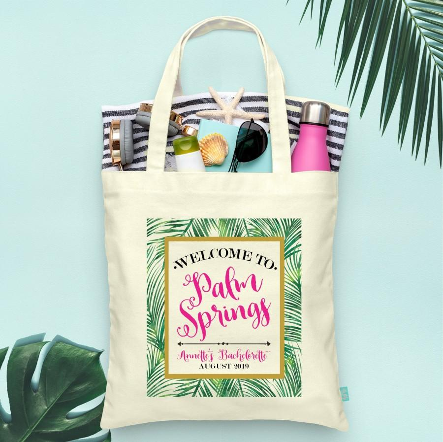 Mariage - Palm Springs Welcome to Beach Bachelorette Party Totes- Wedding Welcome Tote Bag