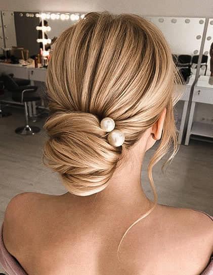 Mariage - Pearl hair pins set of 5, Bridal ivory bobby hair pins, Wedding pearl headpiece, Large Pearls hair accessories, Gold hair pins