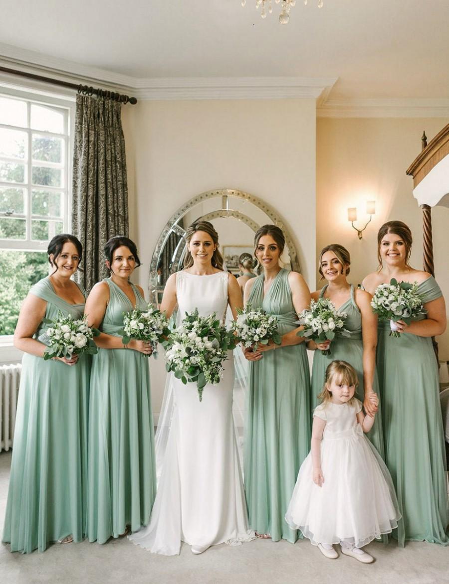 Hochzeit - Long/ Short Sage Bridesmaid Dress Infinity Bridesmaid Dress Multi-way Wrap Dress Convertible Bridesmaid Dress Maternity Dress Party Dress