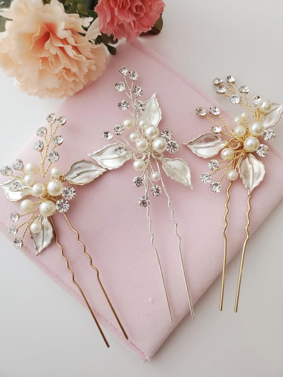 Hochzeit - Bridal hair accessories bridesmaids hair pin wedding hair pins hair accessories bridal silver wedding hair accessories silver hair pin
