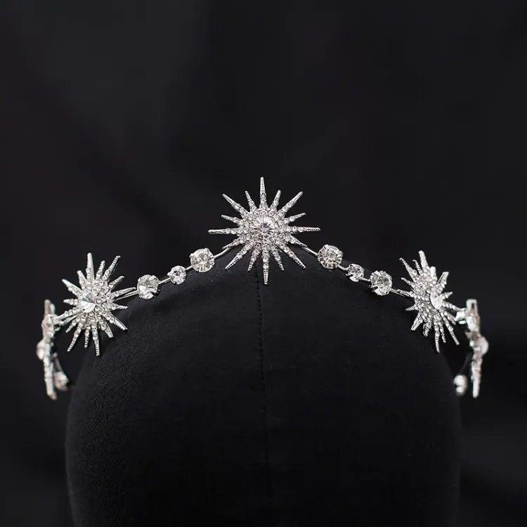 Wedding - Wedding Headband Rose Gold, Bridal Headband headpiece, wedding hair accessories, rhinestone tiara, crystal tiara,Cheyenne Silver Headband