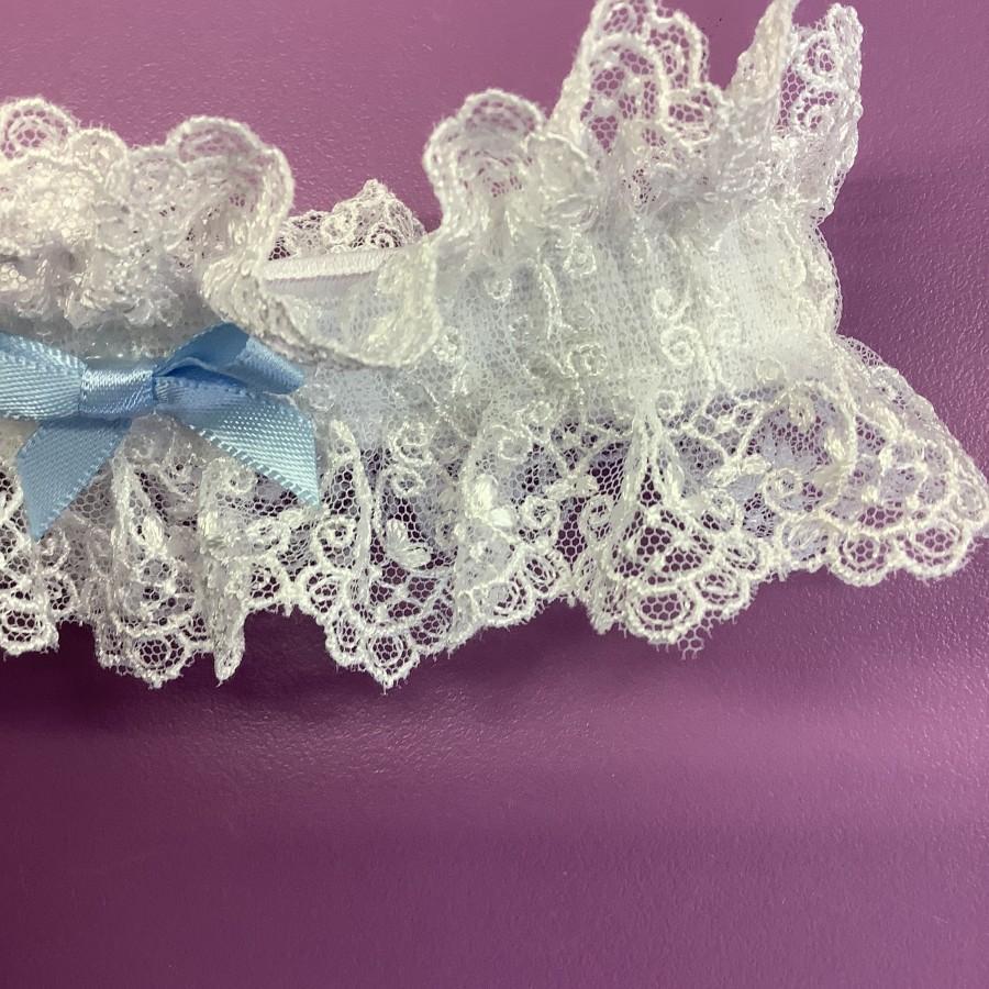زفاف - Wedding Garter, Nottingham Lace , brides garter white , Ivory or cream