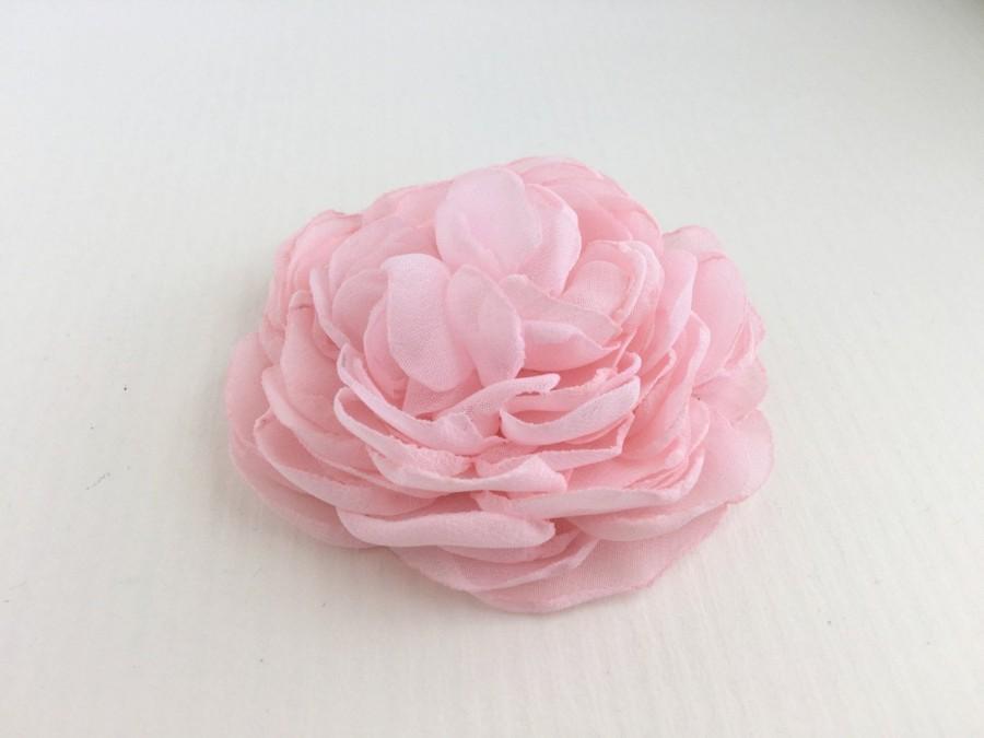 Hochzeit - Light Pink Flower Hair Clip.Light Pink Peony Flower Brooch.Pink Peony Headpiece.Light Pink Flower Pin.Light Pink Flower Wedding Hair Piece