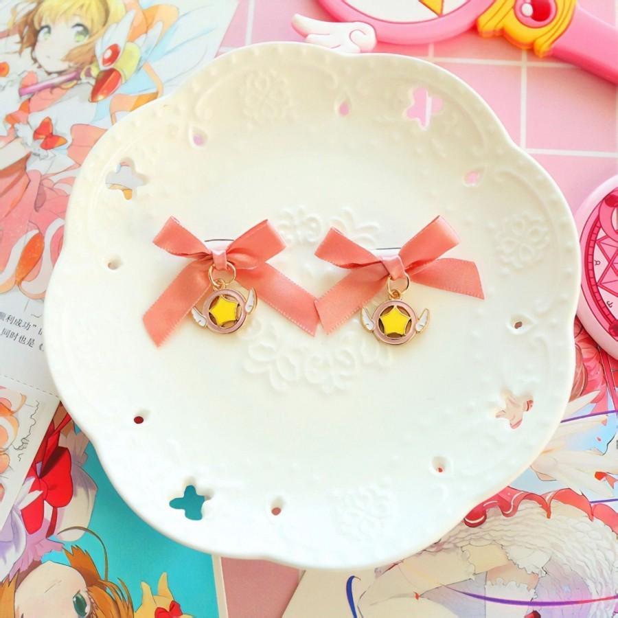 Hochzeit - Cute CardCaptor Sakura Ribbon Hair Pin/ Brooch
