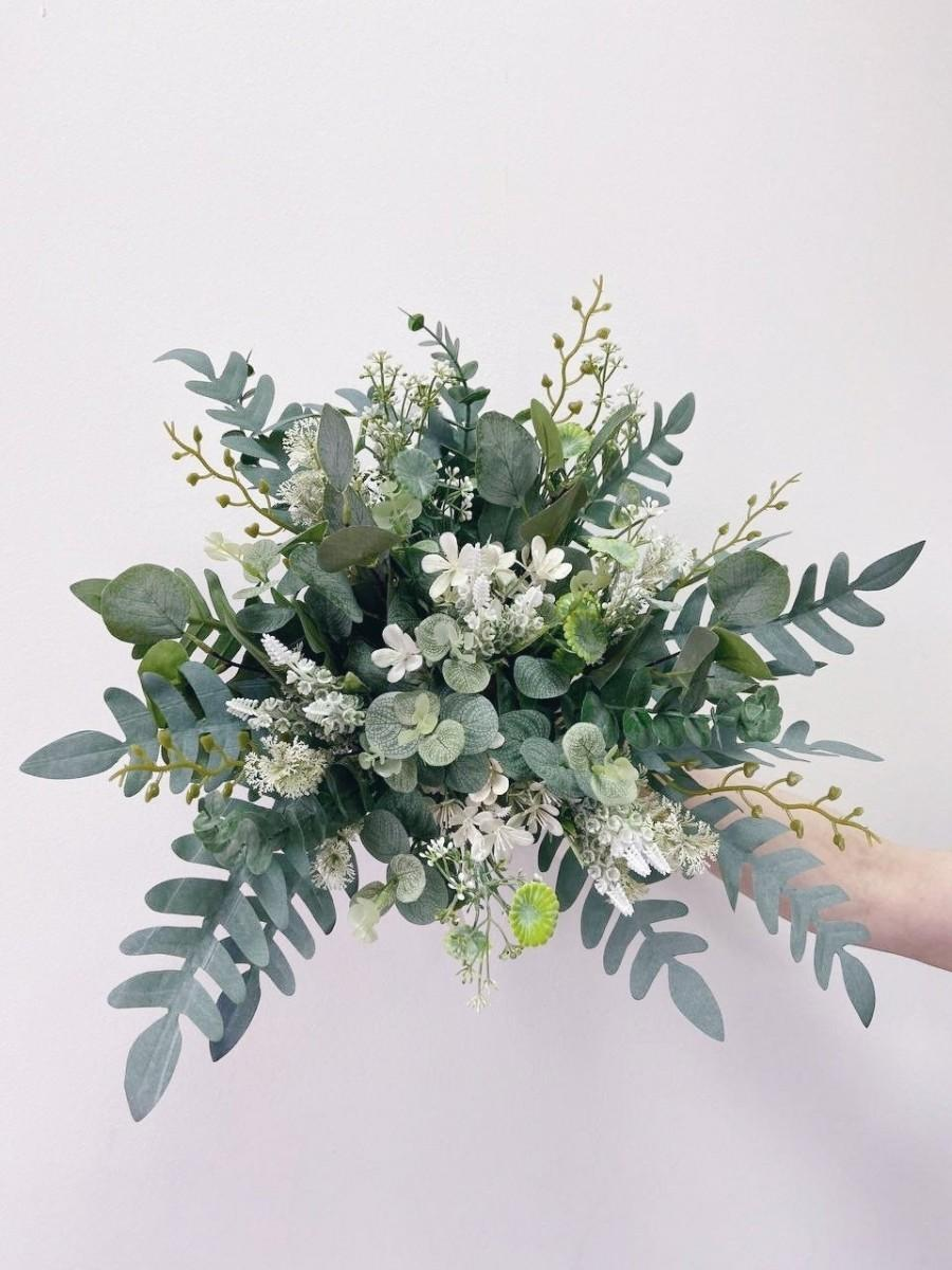 Hochzeit - Wedding bouquet, Bridal bouquet, Bridesmaids Bouquet, White Green bouquet, Rustic bouquet, Wild bouquet, Eucalyptus bouquet