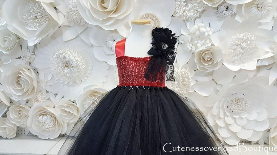 Mariage - Black Tutu Dress-Black Flower Girl Tutu Dress-Black Bride Dress-Black Tutu-Black Dress-Black Girl Tutu-Black Halloween Dress-Black Costume.